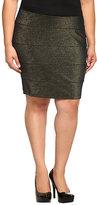 Torrid Black And Gold Sparkle Banded Mini Skirt