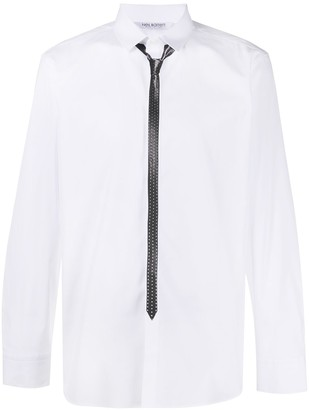 Neil Barrett Tie-Print Long-Sleeve Shirt