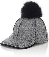Lola Hats Women's Fur Pom-Pom Baseball Cap