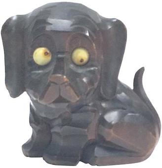 One Kings Lane Vintage Black Forest Googly Eyed Dog Clock - Vermilion Designs