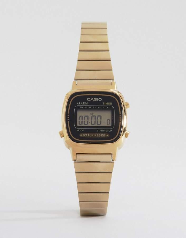 Casio Black & Gold Mini Digital Watch LA670WEGA-1EF