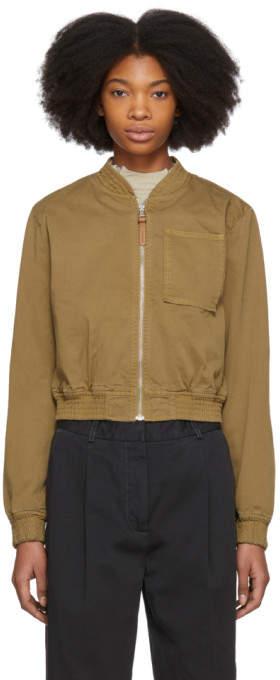 Acne Studios Tan Azru Cotton Chino Bomber Jacket
