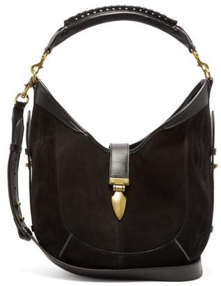 Isabel Marant Kaliko Small Suede Shoulder Bag - Womens - Black