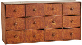 Rejuvenation 12-Drawer Wooden Tabletop Cabinet