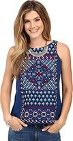 Lucky Brand Women's Short Sleeve Tee with Embroidery
