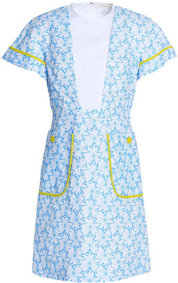 DELPOZO Embroidered Cotton-gauze Mini Dress