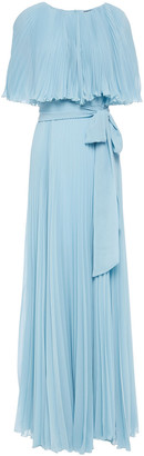 Paul & Joe Sunray Cap-effect Plisse-georgette Maxi Dress