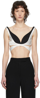 Haider Ackermann Black and White Cut-Out Bustier