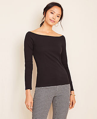 Ann Taylor Petite Refined Off The Shoulder Top