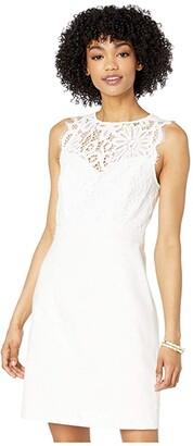 Lilly Pulitzer Sharice Stretch Shift Dress (Resort White) Women's Dress