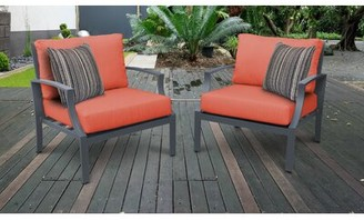 Bronx Benner Patio Chair with Cushions Ivy Cushion Color: Tangerine