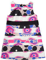 Milly Minis Sleeveless Banded Floral Shift Dress, Multicolor, Size 4-7