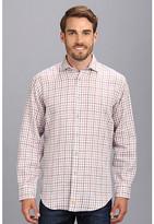 Thomas Dean & Co. Lilac Plaid Linen Button Down Shirt