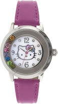 Hello Kitty Womens Crystal-Accent Watch