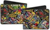 Marvel Comics Comics All Over Characters Superheroes Bi-Fold Wallet