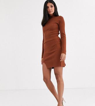 Asos Tall ASOS DESIGN Tall co-ord rib mini skirt with wrap detail