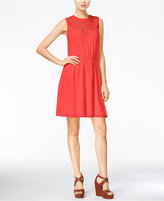 Maison Jules Eyelet-Cutout A-Line Dress, Only at Macy's