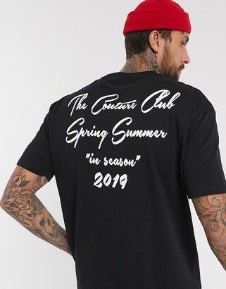 Couture The Club In season reverse print box t-shirt in black