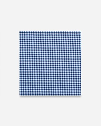 Express Pocket Square Clothing Southern Gent Blue Gingham Pocket Square