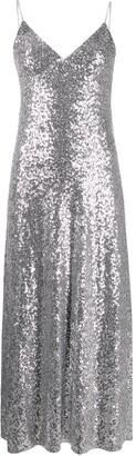 Norma Kamali Overlapping sequin dress