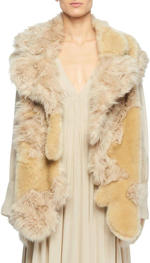Stella McCartney Faux-Fur Patchwork Vest