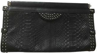 Diane von Furstenberg Black Leather Clutch bags