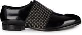 Jimmy Choo Peter stud-embellished leather slip-on shoes