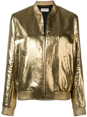 Saint Laurent metallic bomber jacket