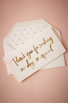 BHLDN Foil Script Thank You Card