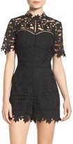 Adelyn Rae Women's Illusion Lace Romper