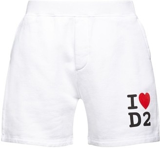 DSQUARED2 Printed Cotton Jersey Sweat Shorts