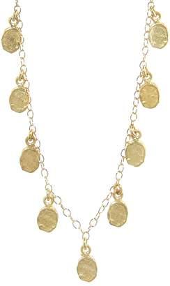 Victoria Cunningham Medium Gold Flakes Necklace