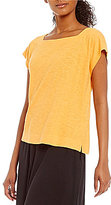 Eileen Fisher Square Neck Cropped Top