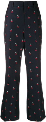Gucci Cherry Fil Coupe Bootcut Trousers