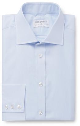 Kingsman + Turnbull & Asser Blue Striped Cotton-Twill Shirt