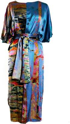 Carmen Molina Faultline Silk Wrap Kaftan