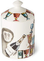 Fornasetti Scimmie Scented Candle, 300g - White