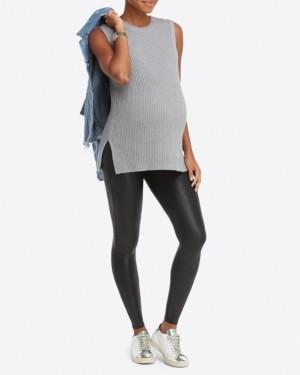 Spanx Plus-Size Mama Maternity Faux Leather Leggings