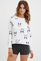Forever 21 Plush Bunny Graphic PJ Top