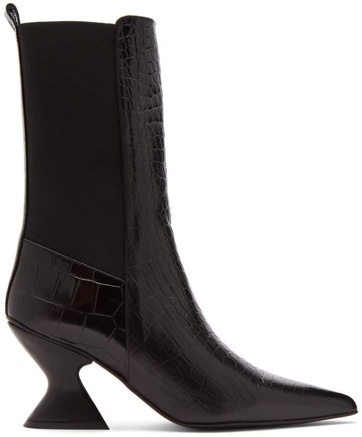 Marques Almeida MARQUES'ALMEIDA Hourglass-heel leather chelsea boots