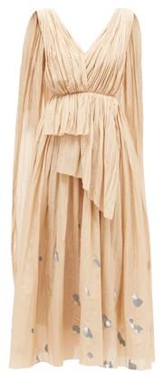 Vika Gazinskaya Painted-dot Cotton-blend Voile Dress - Womens - Beige