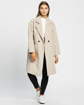 Thumbnail for your product : Atmos & Here Atmos&Here - Women's Neutrals Winter Coats - Vanessa Wool Blend Coat - Size 12 at The Iconic