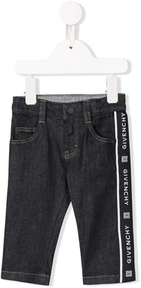 Givenchy Kids logo tape jeans
