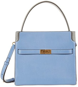 Tory Burch Lee Radziwill Small Double Bag (Bluewood) Handbags