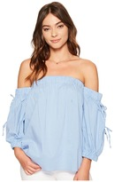 1 STATE 1.STATE - Off Shoulder Blouse w/ Ties Women's Blouse