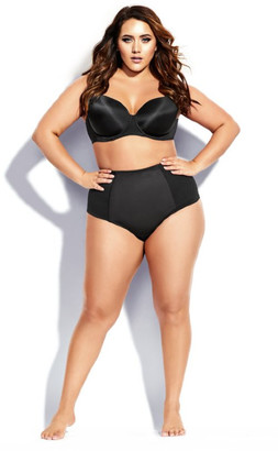 City Chic Smooth & Chic Control Thong - black