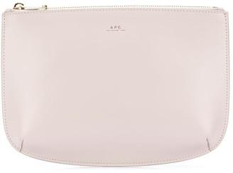 A.P.C. leather zipped clutch