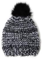 David & Young Boucle Feathered Beanie