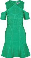 Herve Leger Cutout Bandage Dress - Green