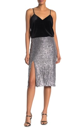 Dress Forum Sequin Midi Slip Skirt
